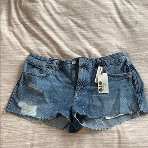 TOPSHOP Moto Jean shorts